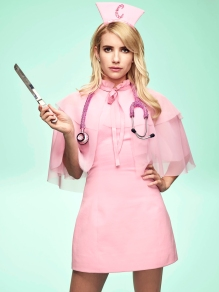SCREAM QUEENS: Emma Roberts. Cr: Tommy Garcia / FOX. © 2016 Fox Broadcasting Co.