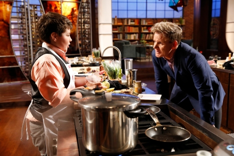 "MASTERCHEF: L-R: Contestant Samuel and Chef Ramsay in the ""Junior Edition: The Next Generation"" Season Premiere episode of MASTERCHEF airing Tuesday, Nov. 4 (8:00-9:00PM ET/PT) on FOX."