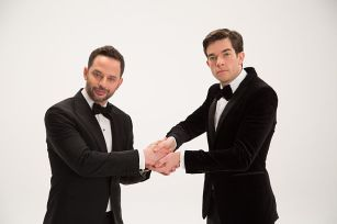Nick Kroll and John Mulaney, co-hosts of the 2017 Film Independent Spirit Awards