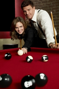 BONES: Emily Deschanel as Dr. Temperance Brennan and David Boreanaz as FBI Special Agent Seeley Booth. The tenth season of BONES premieres Thursday, Sept. 25 (8:00-9:00 PM ET/PT) on FOX. ©2014 Fox Broadcasting Co. Cr: Brian Bowen Smith/FOX
