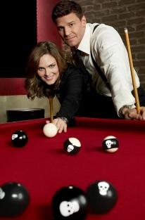 BONES: Emily Deschanel as Dr. Temperance Brennan and David Boreanaz as FBI Special Agent Seeley Booth. The tenth season of BONES premieres Thursday, Sept. 25 (8:00-9:00 PM ET/PT) on FOX. ©2014 Fox Broadcasting Co. Cr: Brian Bowen Smith/FOX