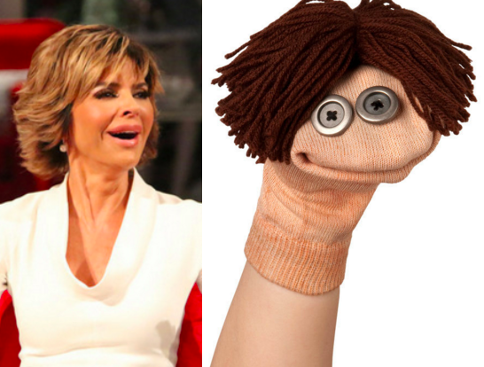 lisa rinna sock puppet