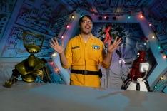 'Mystery Science Theater 3000' starring Mark Hamill, Jonah Ray, Hampton Yount, Baron Vaughn, Rebecca Hanson, Tim Blaney, Joel Hodgson, & Elliot Kalan. Photo by Darren Michaels, SMPSP