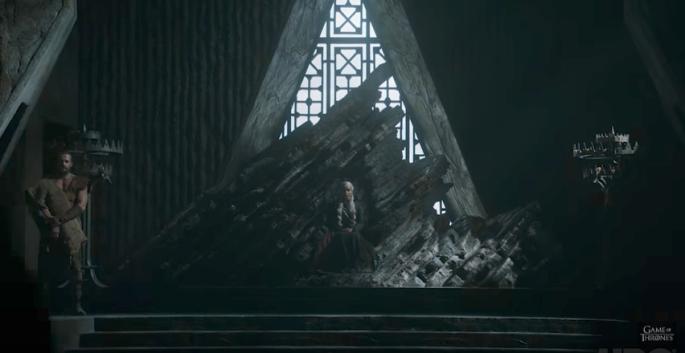 GOT trailer dragonstone throne