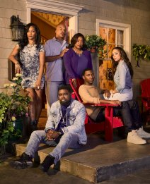 THE CARMICHAEL SHOW -- Season: 3 -- Pictured: (l-r) Tiffany Haddish as Nekeisha, David Alan Grier as Joe Carmichael, Lil Rel Howery as Bobby Carmichael, Loretta Devine as Cynthia Carmichael, Jerrod Carmichael as Jerrod Carmichael, Amber Stevens West as Maxine -- (Photo by: Matthias Clamer/NBC)