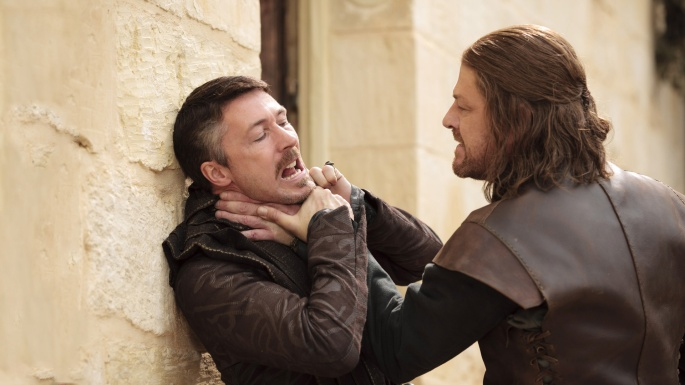 ned chokes littlefinger game of thrones