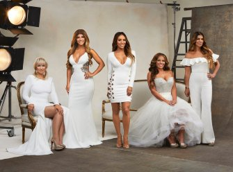 THE REAL HOUSEWIVES OF NEW JERSEY -- Season:8 -- Pictured: (l-r) Margaret Josephs, Teresa Giudice, Melissa Gorga, Dolores Catania, Siggy Flicker -- (Photo by: Rodolfo Martinez/Bravo)
