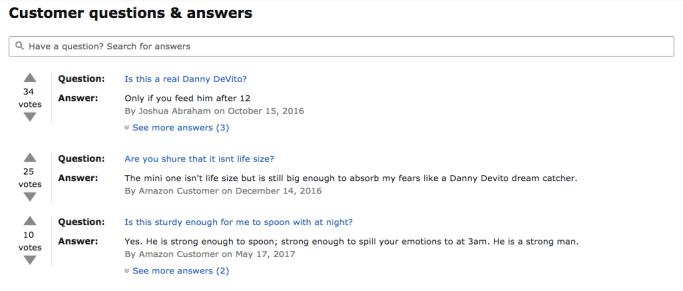 Questions RE: Danny Devito