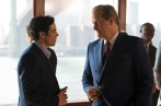 """THE LOOMING TOWER -- """"Tuesday"""" - Episode 109 - The CIA becomes aware that Hazmi and Mihdhar are gone and must relay that to the FBI. OÕNeill accepts a job as head of security at the World Trade Center. Soufan is sent back to Yemen. Hazmi, Mihdhar and Atta head to Vegas for a final indulgence. Ali Soufan (Tahar Rahim) and John O'Neill (Jeff Daniels), shown. (Photo by: JoJo Whilden/Hulu)"""