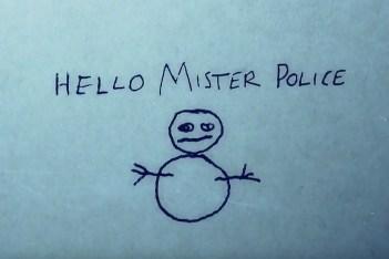 the snowman hello mister police