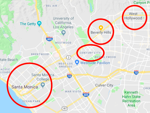 Map of LA AHS