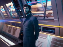 Ethan Peck as Spock of the CBS All Access series STAR TREK: DISCOVERY. Photo Cr: James Dimmock/CBS ©2018 CBS Interactive, Inc. All Rights Reserved.