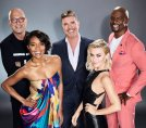 AMERICA'S GOT TALENT -- Season: 14 -- Pictured: (l-r) Howie Mandel, Gabrielle Union, Simon Cowell, Julianne Hough, and Terry Crews -- (Photo by: Art Streiber/NBC)