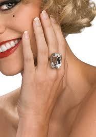 costume jewlery ring diamond fake